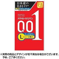 オカモトゼロワン Lサイズ たっぷりゼリー 3個入 0.01mm台のコンドーム 日本国内流通品