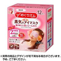 【即日発送】めぐりズム  蒸気でホットアイマスク  無香料  12枚入日本国内流通品